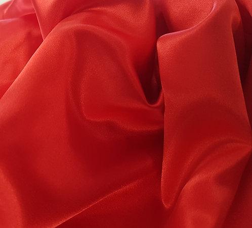Stretch Polyester Satin Red