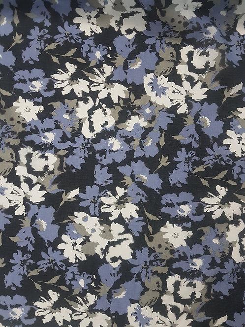 Mottled Floral Cotton Voile