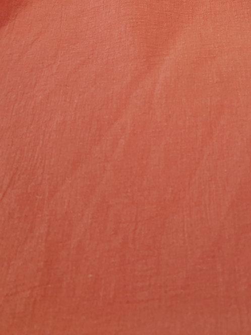 Crinkle Cotton Muslin Tangerine