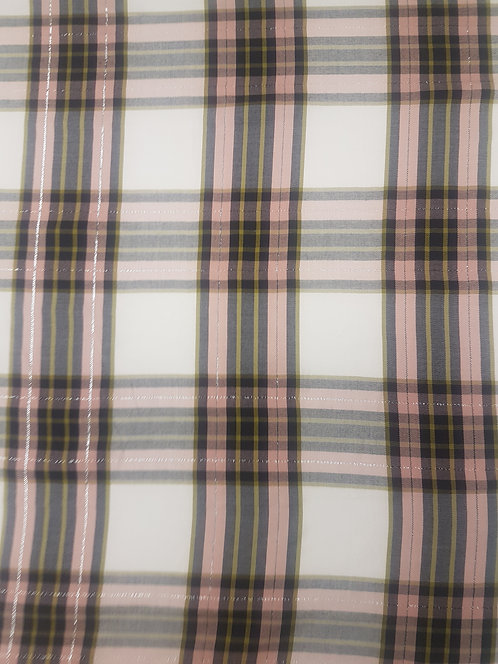 Lurex Check Cotton Shirting