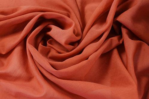 Silk & Cotton Voile Orange