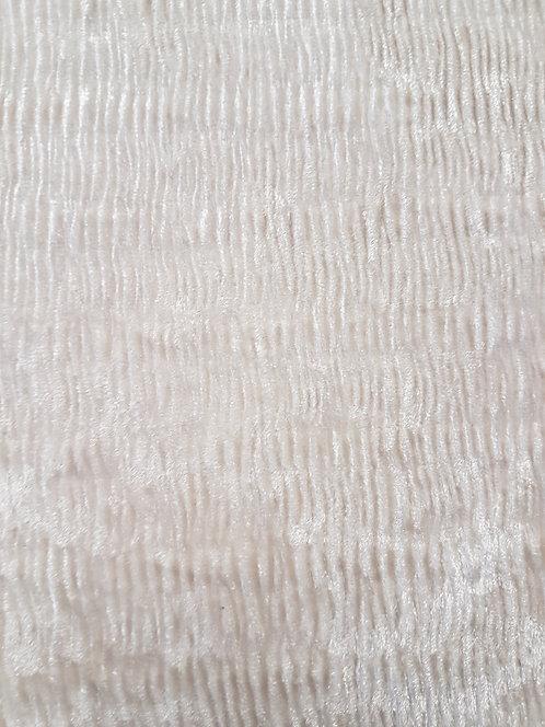 Luxe Crinkle Stretch Velvet Off White