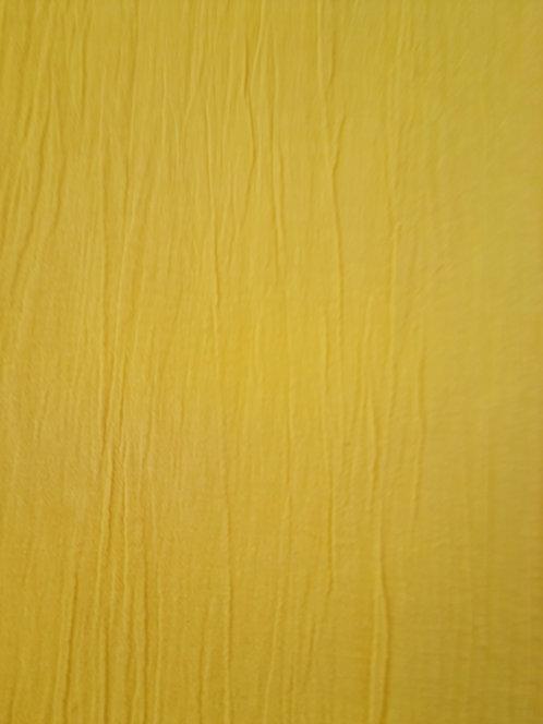 Crinkle Cotton Muslin Yellow