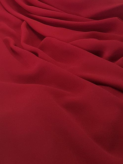 Polyester Georgette Burgandy