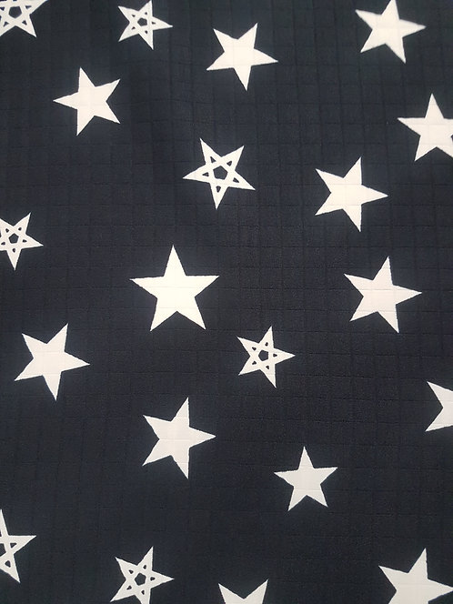 Star Bright Quilted Sateen Black/Cream