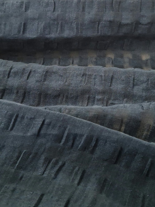 Annaba Linen Cotton Seersucker Petrol