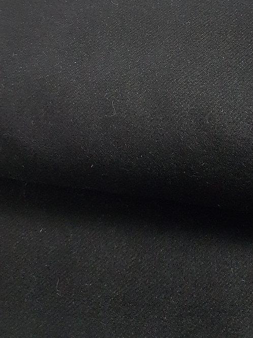 Wool Viscose Blend Coating Black