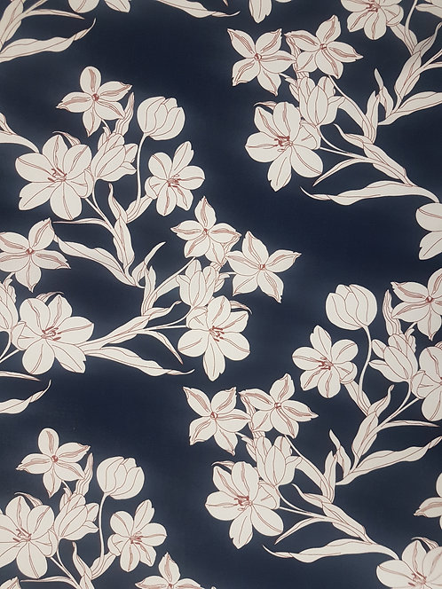 Floral Rayon Navy