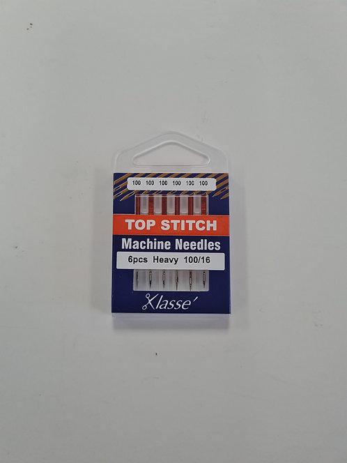Klasse Top Stitch Machine Needles 100/16 Heavy