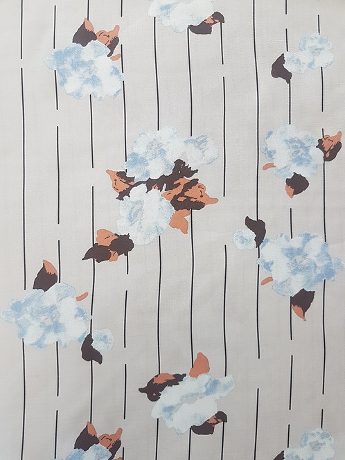 Powder Floral Rayon Blue
