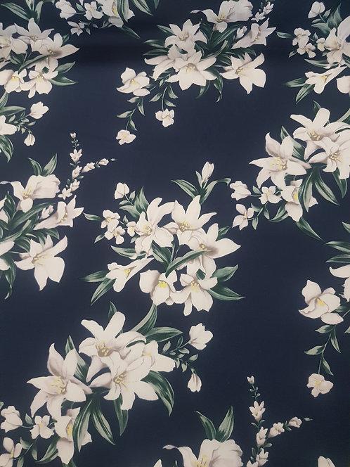 Lily Cotton Poplin Navy