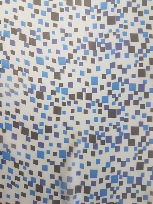 Square Pegs Polyester Chiffon Blue