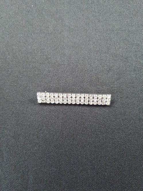 3 Row Diamante Brooch 6.5cm long