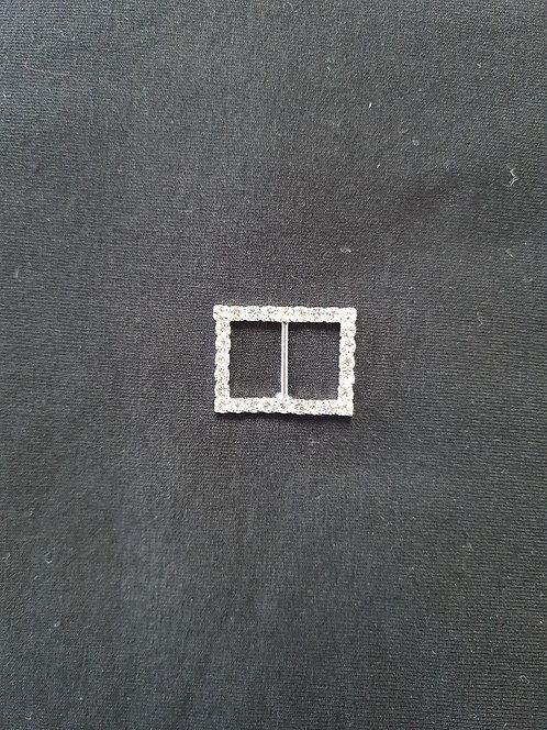Rectangle diamante Buckle 2.50cm Long