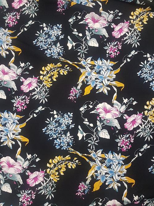 Fantasia Floral Rayon Black