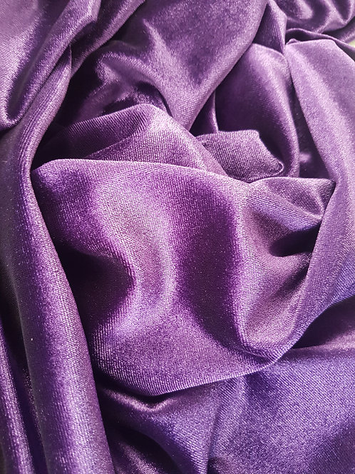 Plush Spun Stretch Velvet Purple