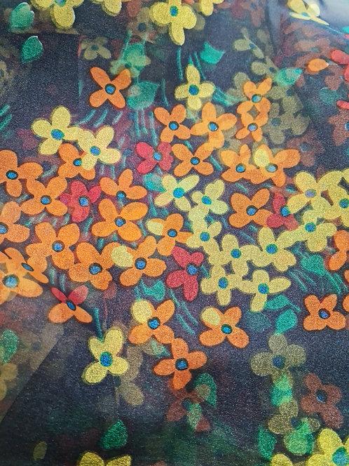 Designer Prints Floral Organza