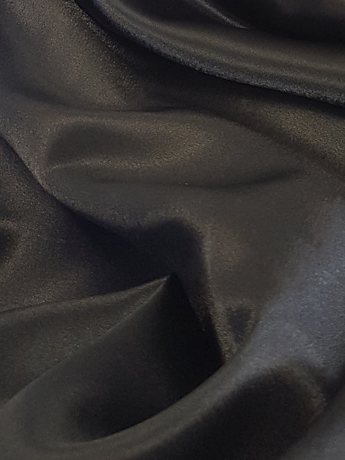 Satin Back Crepe Black