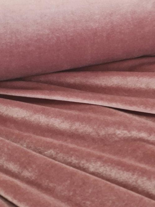 Luxe Spun Stretch Velvet Rose Pink