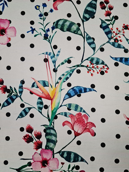 Spot the Flower Polyester Crepe de Chine