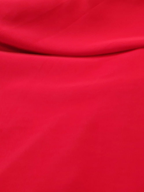 Valentina Microfibre Crepe de Chine Red