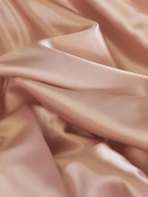 Stretch Polyester Satin Blush Pink
