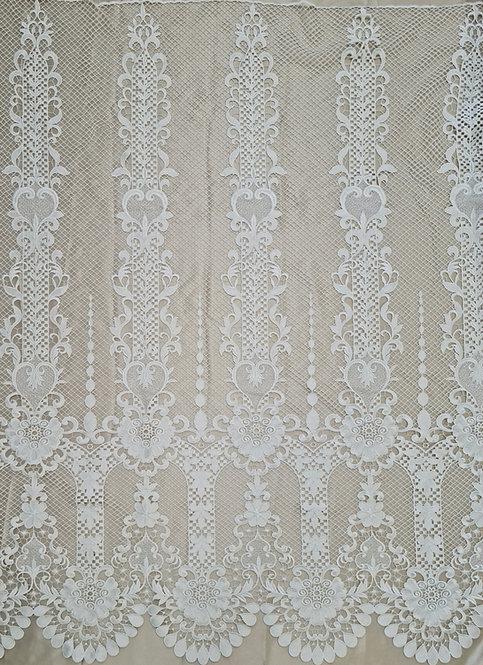 Designer Column Guipure Lace Ivory