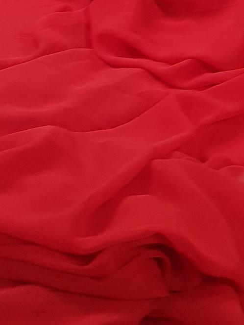 Red Polyester Chiffon