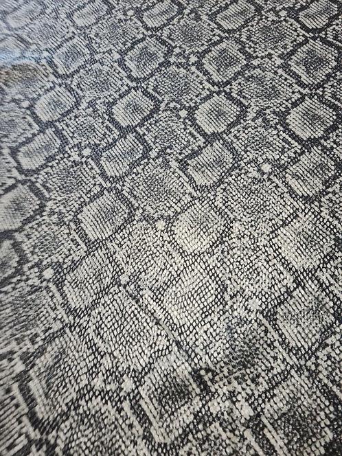 Coated Snakeskin Heavy Knit