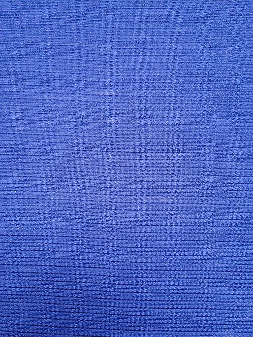 Merino/Nylon Self Stripe Knit Royal Blue