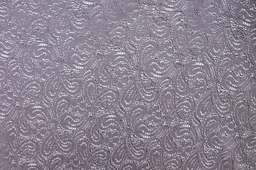 Grey Corded Lace