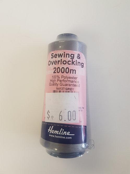 Sewing & Overlocking Thread 2000m Grey