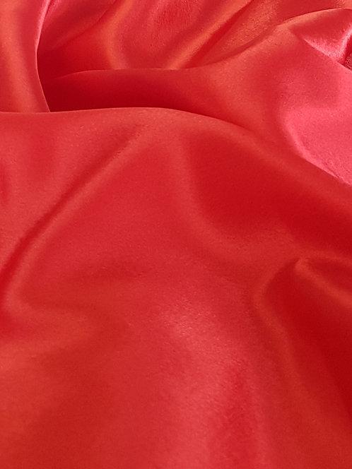 Satin Back Crepe Red