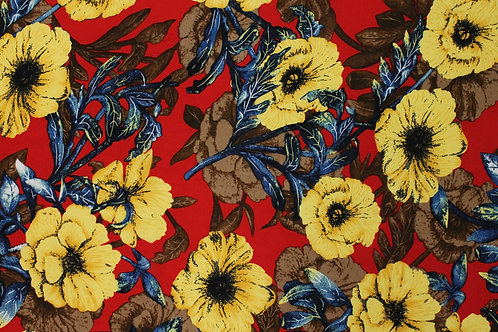Red & Yellow Flower Print