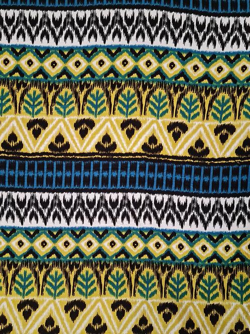 Tropic Stripe Viscose Print