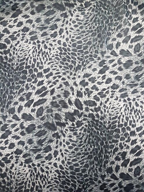 Leopard Polyester Chiffon Grey
