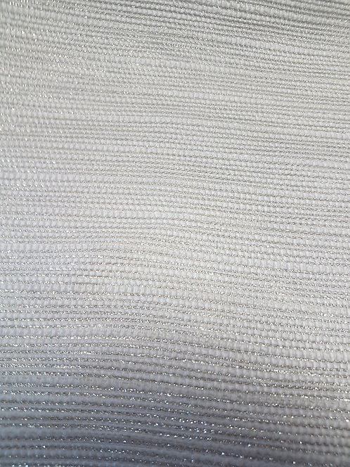 Woven Lurex Suiting White/Gold