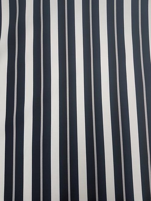 Stripe Cotton Black/Grey/White