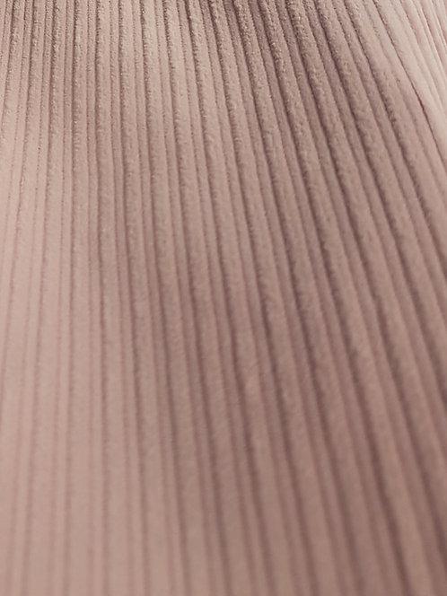 Corded Stretch Velveteen Blush