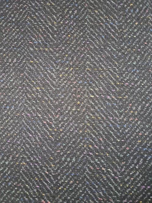 New Seasons Herringbone  Ponti Knit Charcoal