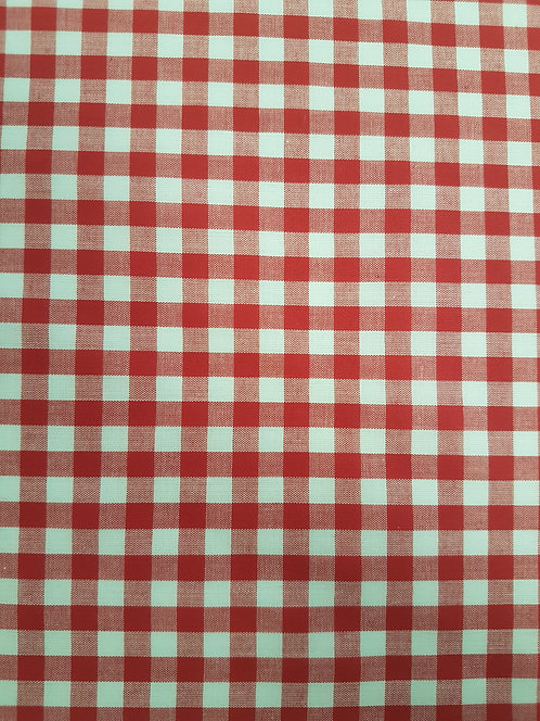 Gingham 1/4 inch Red