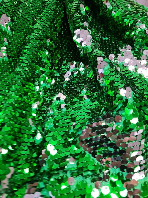 2 Way Allover Sequin Emerald/ Silver
