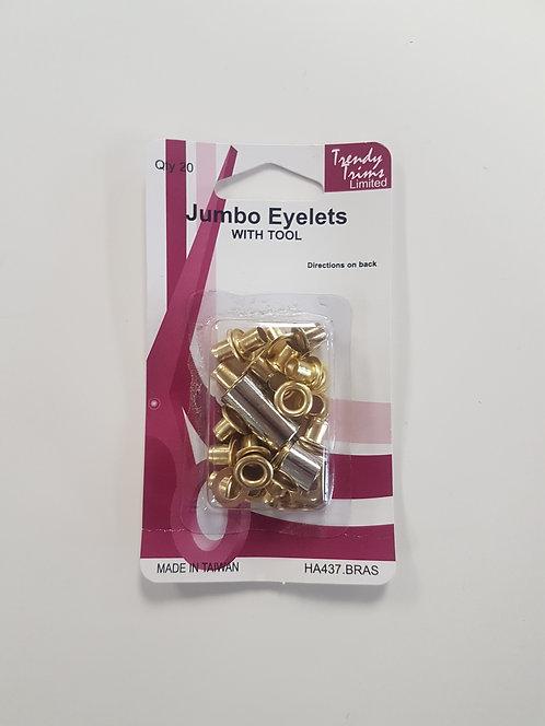 Jumbo Eyelets with Tool