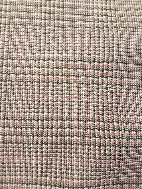 Lurex Check Luxe Suiting Pink