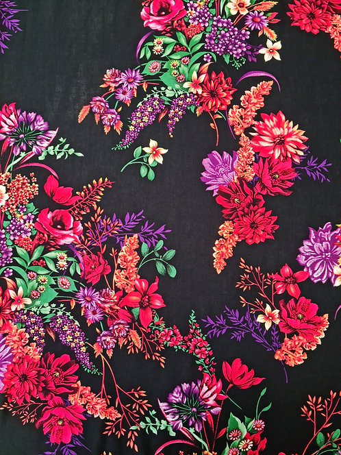 Bloomin Beautiful Rayon Black