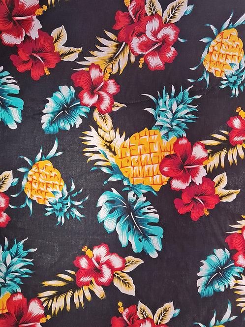 Tropic Vibes Cotton Print Black