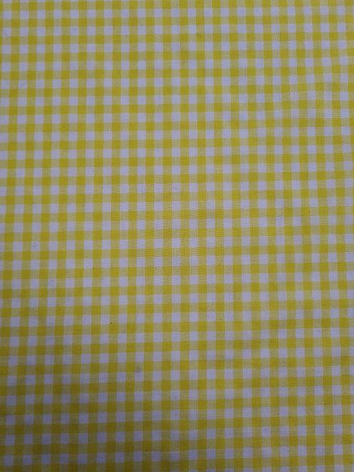 Gingham 1/4 inch Yellow