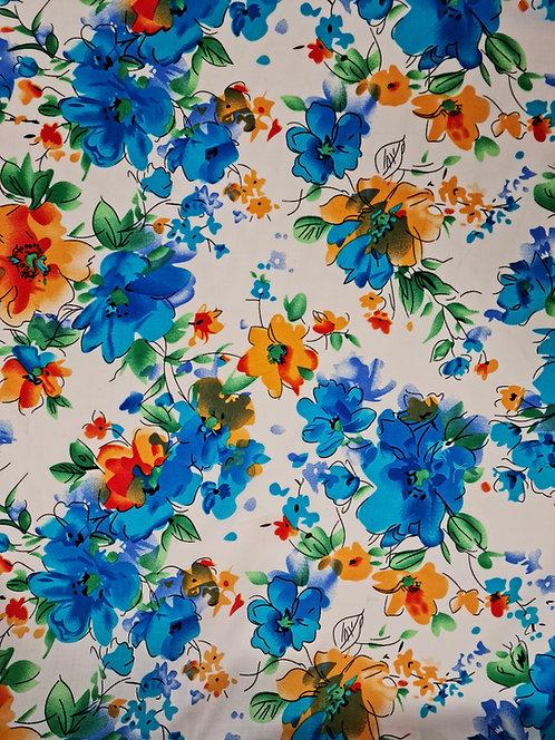 Floral Fiesta Rayon White