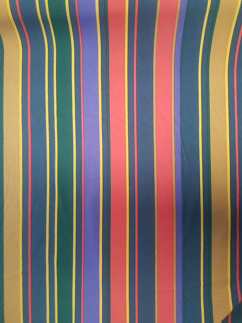 Multi Stripe Crepe Purple