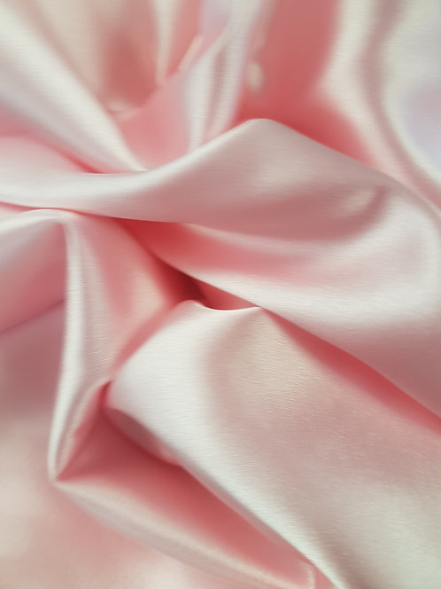 Stretch Polyester Satin Pale Pink